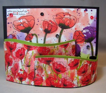 Painted Poppies Bendi card front