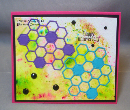Honey Bee Hexagons Anniversary