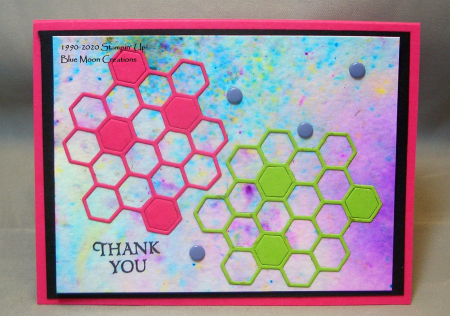 Honey Bee Hexagons Thank You