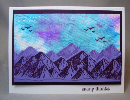 Purple Mountains Majesty Paper Towel Background