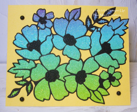 Blossoms in Bloom Green Puzzle Card
