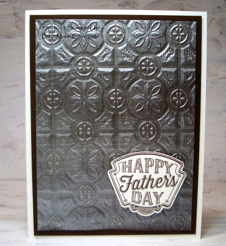 Garage Gears Tin Embossing Folder shimmery background